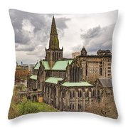 Glasgow Cathedral From The Necropolis Throw Pillow