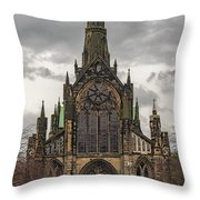 Glasgow Cathedral Front Entrance Throw Pillow