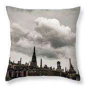 Glasgow Necropolis Graveyard Throw Pillow