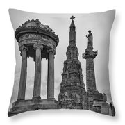 Glasgow Necropolis Graveyard Memorials Throw Pillow