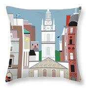 Glasgow Scotland Vertical Scene Throw Pillow