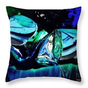 Glass Abstract 141 Throw Pillow