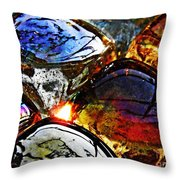 Glass Abstract 2 Throw Pillow
