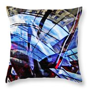 Glass Abstract 219 Throw Pillow