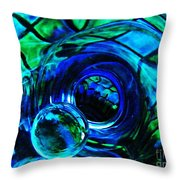 Glass Abstract 226 Throw Pillow by Sarah Loft