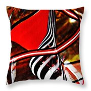 Glass Abstract 500 Throw Pillow