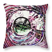 Glass Abstract 515 Throw Pillow