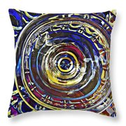Glass Abstract 587 Throw Pillow
