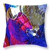 Glass Abstract 609 Throw Pillow