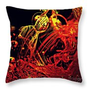 Glass Abstract 623 Throw Pillow