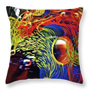 Glass Abstract 630 Throw Pillow
