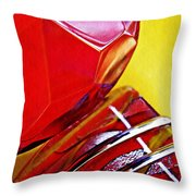 Glass Abstract 649 Throw Pillow