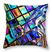 Glass Abstract 696 Throw Pillow