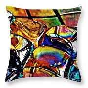 Glass Abstract Throw Pillow