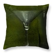 Glass And Bottle Throw Pillow