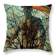 Glass And Branches  Throw Pillow