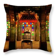 Glass And Mirror Room City Palace Udaipur Throw Pillow