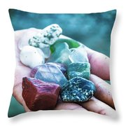 Glass And Stone Throw Pillow