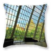 Glass Atrium Architecture Throw Pillow