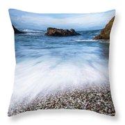 Glass Beach Throw Pillow
