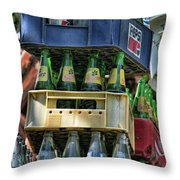 Glass Bottles Soft Drinks  Throw Pillow
