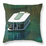 Glass Bottomed Boat Throw Pillow