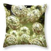 Glass Bubbles Throw Pillow