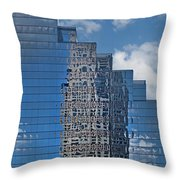 Glass Building Reflections Throw Pillow