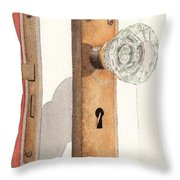 Glass Door Knob And Passage Lock Revisited Throw Pillow