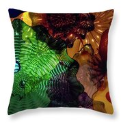 Glass Explosion Throw Pillow