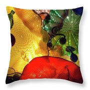 Glass Expressions Throw Pillow