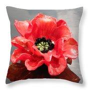 Glass Flower Throw Pillow