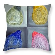 Glass Full Of Shapes Throw Pillow