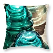 Glass Insulators Throw Pillow