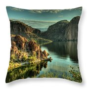 Glass Lake Throw Pillow