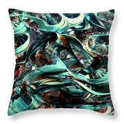 Glass Macro Iv Ce Throw Pillow