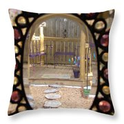 Glass Menagerie Throw Pillow by Priscilla Richardson