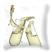 Glasses Of Champagne Throw Pillow