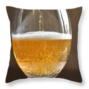 Glass Of Lager Throw Pillow
