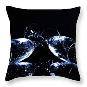 Glass Of Shampagne Throw Pillow