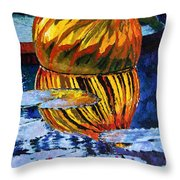 Glass Reflections On Lily Pond Throw Pillow