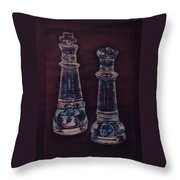 Glass Royalty Throw Pillow