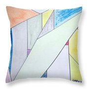 Glass-scrapers Throw Pillow