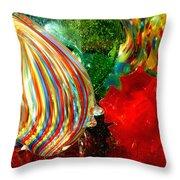 Glass Sea Throw Pillow