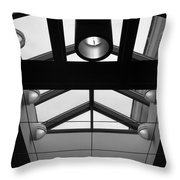 Glass Sky Lights Throw Pillow
