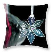 Glass Star Decoration Throw Pillow