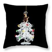 Glass Tree Decoration Throw Pillow