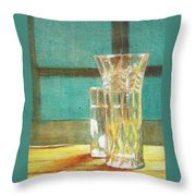 Glass Vase - Still Life Throw Pillow