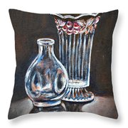 Glass Vases-still Life Throw Pillow
