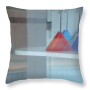 Glass Water Plastic Flutes Throw Pillow